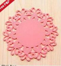 small Silicone Heat Insulation Coasters Mat Resistant Pad Non-Slip Cup-@!