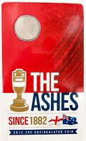 .2013 THE ASHES UNC / CARDED 20C COIN