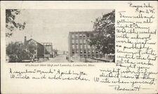 Leominster MA Chirt Shop & Laundry c1905 Postcard