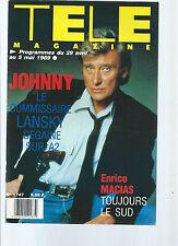 LOT Télé Magazine Johnny Hallyday