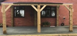 New 6m x 3.5m Pent Wooden Shelter  Car Port Hot Tub Gazebo Delivery Available