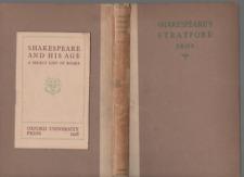 EDGAR I FRIPP SHAKESPEAR'S STRATFORD FIRST EDITION HARDBACK 1928 + BOOKLET