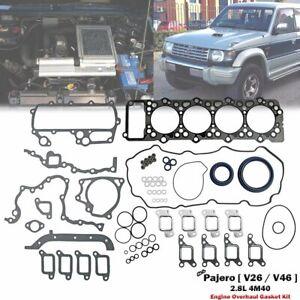 Engine Overhaul Gasket Full Set For Mitsubishi Pajero V26W V46W 2.8L 4M40-T