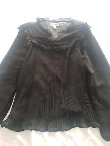 Black transparent Top Topshop Size 10