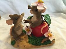"""Charming Tails """"Apple Of My Eye"""" Mouse Limited Edition 2000 Fitz And Floyd"""