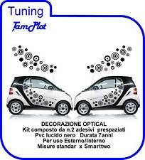 SMART ADESIVI OPTICAL  DECORAZIONI AUTO TUNING 2Pz.nero