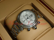 Cartier Pasha 38mm Stainless Steel Chronograph Automatic Skeleton Back W31030H3