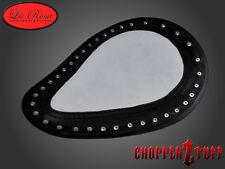 """LaRosa Harley Chopper Bobber Custom 13"""" Solo Seat Hard Ass Slim White Leather"""