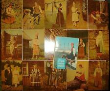 FOLK COSTUMES of ESTONIA, set of 15 postcards, 1969