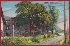 VARESE VALGANNA 11 GHIRLA - FERROVIA ELETTRICA LUINO Cartolina viagg. 1919