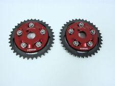 VMS 2 RACING ADJUSTABLE CAM GEARS FOR NISSAN SR20DET SR20DE ENGINE SPROCKETS RED