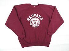Vintage Harvard University Medium Crewneck Sweatshirt Burgundy Red Ivy League