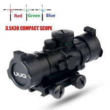 UUQ Prism 3.5X30 R/G/B Triple Illuminated Rapid Range Reticle Rifle Scope