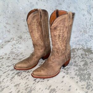 Dan post brown leather mens cowboy western boots size 8.5