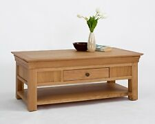 Bordeaux Oak Coffee Table with Shelf & Drawer - Brand New/HUGE SALE - NO-22