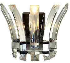Lampadario di cristallo LED luce parete Raccordo A CASCATA Cristalli Ciondolo Home Decor