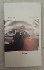 """ELTON JOHN """"I WANT LOVE"""" RARE SPANISH PROMOTIONAL VHS SINGLE / ROBERT DOWNEY JR"""
