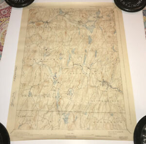 Vintage 1893 Reprinted 1942 Topographical Map of Brookfield Sturbridge Mass
