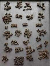 PRÄGESCHRIFT Messing Buchbinden Vergolden bookbinding Buchbinder Schrift Letter