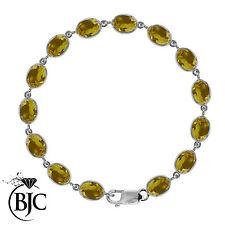 Citrine Tennis Not Enhanced Sterling Silver Fine Bracelets