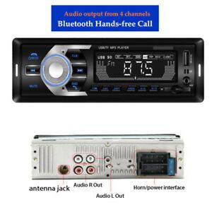 DC12V Car MP3 Player U disk Card FM Radio Bluetooth Hands-free Call Universal