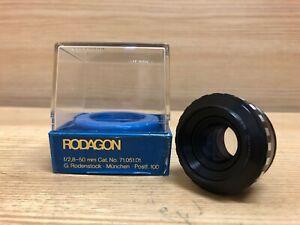 *Near Mint in Bubble Case* Rodenstock Rodagon 50mm F/2.8 Enlarging Lens From JPN
