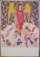 Pop Art Postcard Ronnie Cutrone THE GATHERING Painting Drawing American Artist