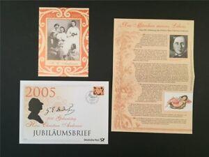 GERMANY JUBILEE-FDC 2005 HANS CHRISTIAN ANDERSEN FAIRY TALES u630