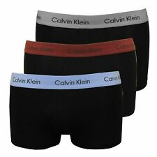 Calvin Klein 100% Auténtico Hombre Boxer Shorts Troncos de baja altura - 3 Paquete De Color