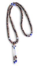 BUDDISTA MALA Collana preghiera legno di rosa, Dorje, Catena con 108 Perle