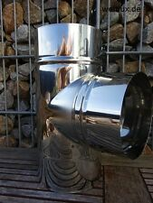 T-Piece Flue Pipe T-Anschluß Stove Pipe Chimney Renovation Ø120 bisØ200 Premium
