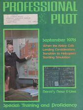 Professional Pilot (September 1978) (Narco Radios, Landing Considerations, Sims)