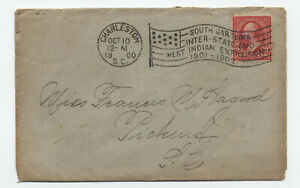 1900 Charleston SC inter-state and west indian expo flag cancel cover [5834.7]