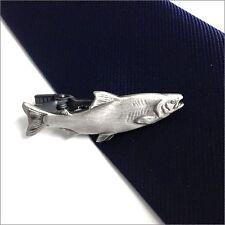 Ishokuya Angler series Unique fish Tie pin Tie clip Tie bar Salmon Import Japan