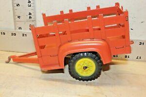 Vintage Hubley Metal Orange Farm Trailer #800