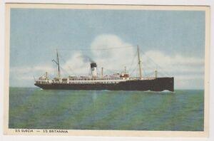 Shipping postcard - S.s Suecia - s.s Britannia (A13)