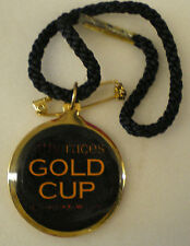 AT THE RACES GOLD CUP 2003 HORSE RACING Enamel Badge with Cord