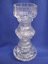 Rosenthal Martin Freyer Art Glass Vase Candle Holder Clear Ice Crystal Texture V