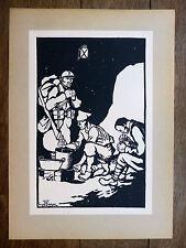 GEORGES BRUYER Gravure n&b LE CUISTOT  ww1  Première Guerre Mondiale 1917