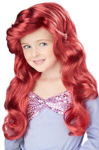 Girls Little Mermaid Ariel Wig for Kids Disney Costume