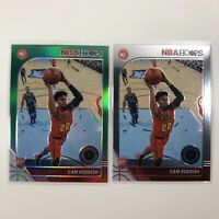 2019-20 NBA Hoops Premium Stock Cam Reddish Green Prizm Rookie & Base RC HAWKS