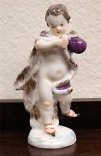 Meissen Hand Painted Porcelain Figurine of an Ice Skater circa 1890s