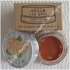 Stila Lip Pots Amande Tinted Lip Balm Light Brown Nude .08 oz. Free US Shipping