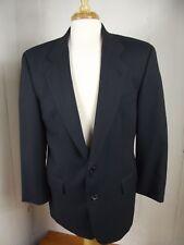 Hugo Boss Super 100 Mens 44L Dark Navy Wool Birdseye Sport Coat Jacket Blazer