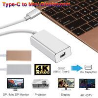 USB-C Type-C to Mini DisplayPort Mini DP Adapter Converter Thunderbolt 3
