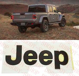 2020-2021 Jeep Gladiator rear tailgate black Nameplate Emblem new OEM 68352381AB