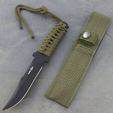 "7.5"" TACTICAL COMBAT BOWIE FIXED BLADE HUNTING KNIFE Throwing Survival Military"
