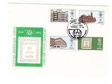 Litauen  FDC Ersttagsbrief 1993 75 Jahre Briefmarke Mi.Nr.540-43