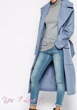 WINTER Coat In Relaxed Fit With Belt (Belt is missing) (BRANDED) Blue UK6 EU34