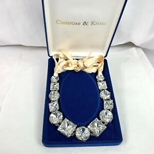 Kate Spade New York High End Well Made Huge Rhinestone Necklace French Cosplay